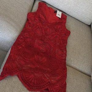 Bardot lace embroidered dress, size M (8), NWT